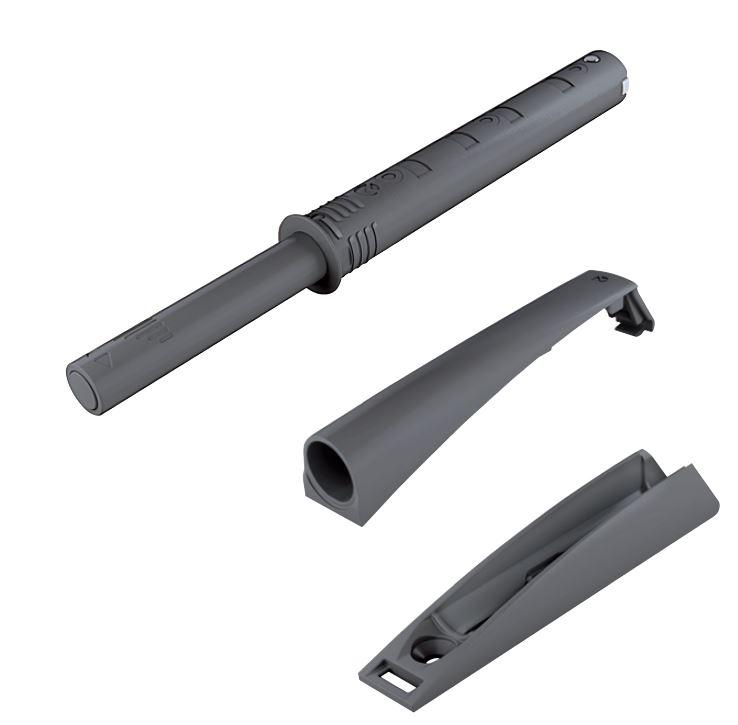 IF K-Push dlhý s čočkou s adaptérom sivý