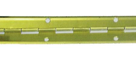 Pianový závěs 32×3500 mm mosaz DOPREDAJ