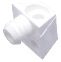 Upevňovací element biely