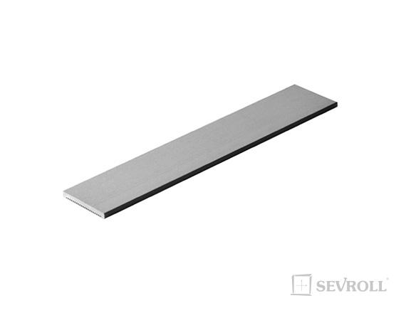 SEVROLL okrasná lišta S20 3m strieborná
