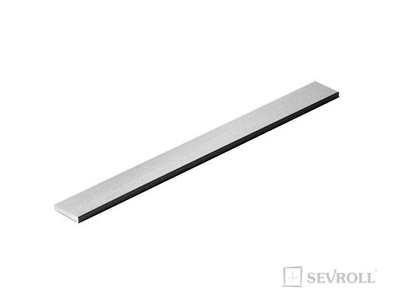 SEVROLL okrasná lišta S10 3m strieborná
