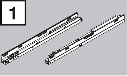 BLUM 578.4501B01 výsuv Tandembox 450mm 30kg P+Ľ
