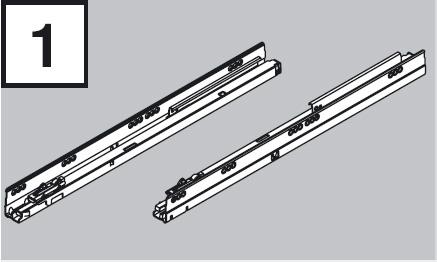 BLUM 578.2701B výsuv Tandembox 270mm 30kg P+Ľ