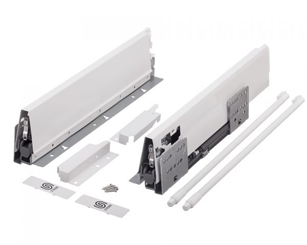 StrongBox H140/450mm biely s guľ.relingom