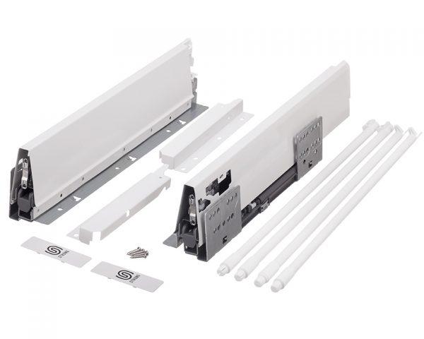 StrongBox H204/450mm biely s guľ.relingom