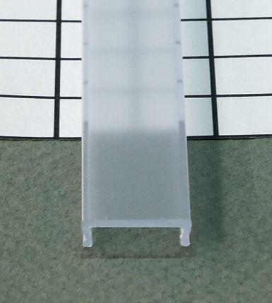 TM-krycia lišta k LED profilom naklapavacia priesvitná 2000mm