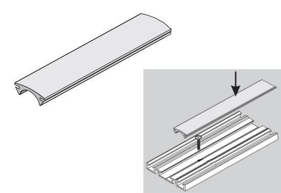 SEVROLL ROLL záslepka spodného vedenia Simple/Blue priesvitná