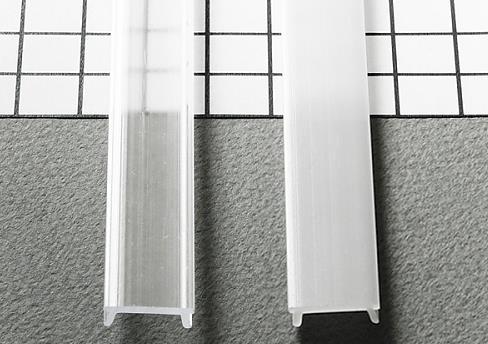 TM-krycia lišta k LED profilom naklapávacia mliečna 2000mm