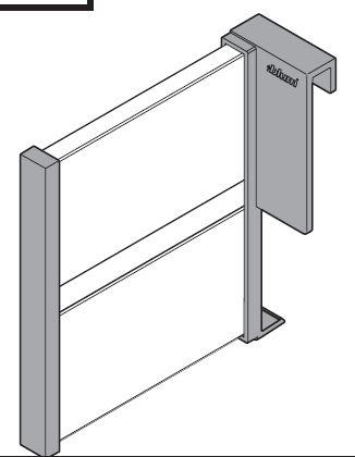 BL-Z43L100S pozdĺžne delenie šedé