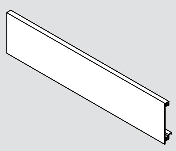 BLUM ZV7.1043C01 čelný plech Legrabox biely