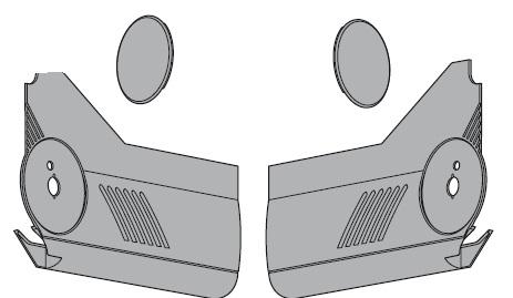 BLUM 20L8000.01 krytky HL bez S-D biele