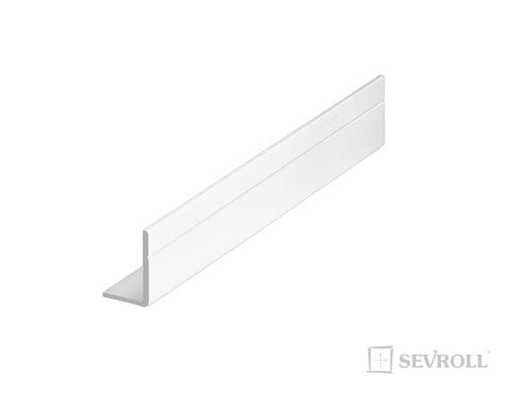SEVROLL uholník 17x11mm 3m biela lesk