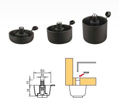 STRONG Klzák s rektifikáciou, výška 42 mm, čierny