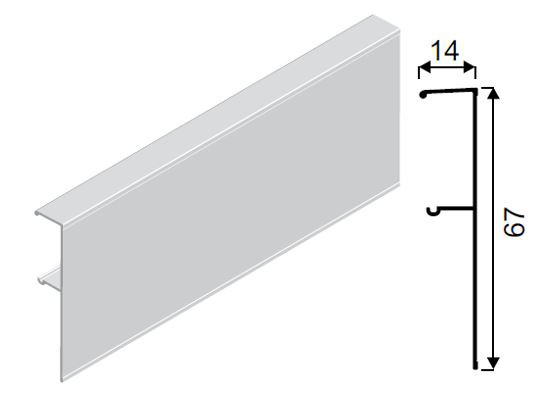 SEVROLL krycí profil Galaxy 2m
