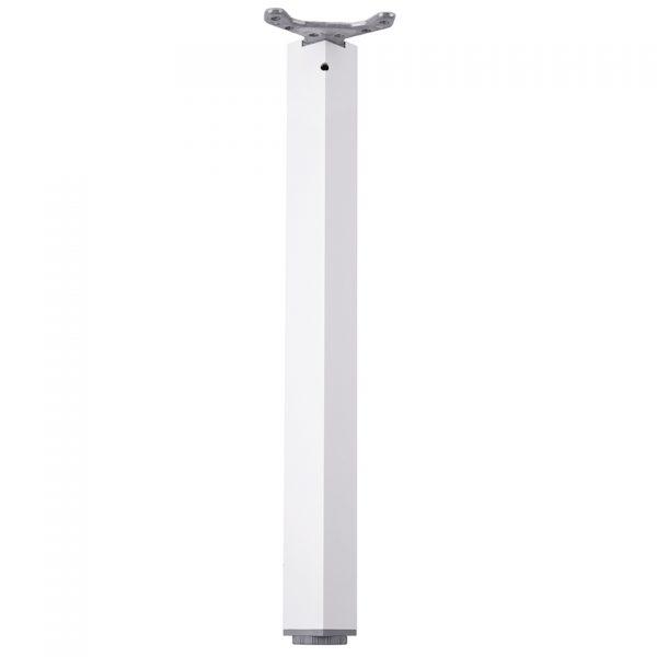 stolová noha ROH 710/60×60 biela lesk
