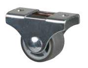 Koliesko 25 mm, šedé, pevné, mekč. behúň