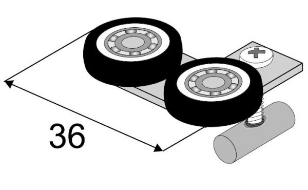 SEVROLL horný vozík Blue(18mm)rámový (L+P)(k 229446)