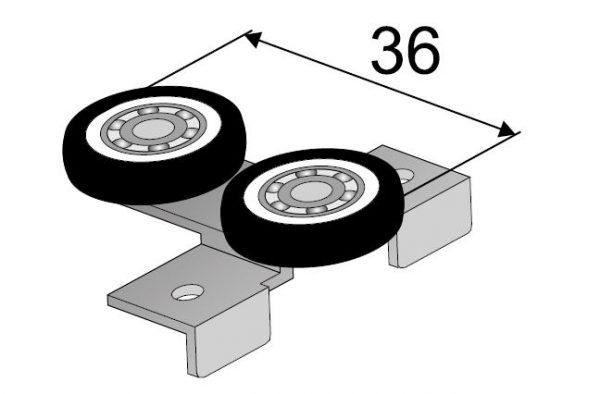 SEVROLL horný vozík Blue (pre lamino 18mm) bezrámový (L+P)-k 349735
