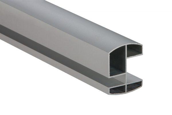WC Al elox profil horní 18/25 mm pro kabinky, délka 1,98 m