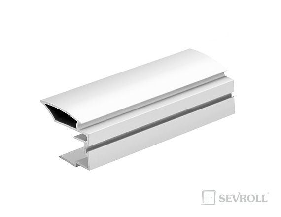 SEVROLL Alfa II lišta 18mm 2,7m biela mat