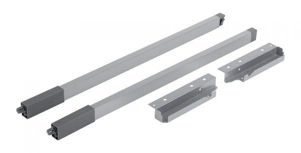 StrongBox sada hranatých horných relingov H140/500mm farba biela