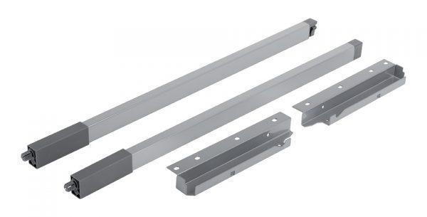 StrongBox sada hranatých horných relingov H204/550mm farba biela