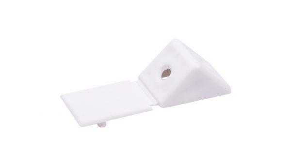 Uholník spoj. plastový malý biely