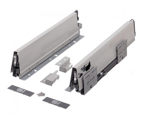 K-StrongBox H204/550mm s jedným hranatým relingom farba biela